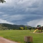 And, I no more than got my campsite put together when the weather told me that I was just in time.  This is the Black Hills, and we can get some interesting weather around here.  This is the view of a nice thunderstorm off to the west from the campground.