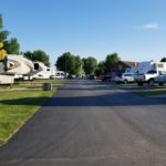 There are plenty of RVs to be seen at Hart Ranch.  Here's a view down one street of them as I was out and about for the evening.