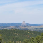 View of Devil's Tower taken from a distance